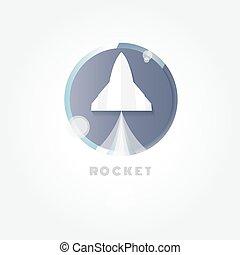 Startup. Rocket ship. vector