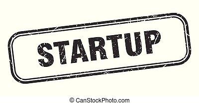 startup stamp. startup square grunge sign. startup