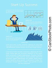 Startup Success Visualization Vector Illustration