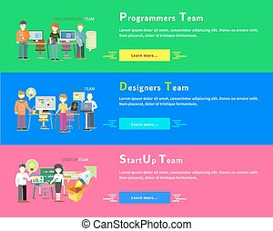 Startup Team. Programmers. Designers People Group