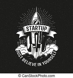 Startup vintage logo