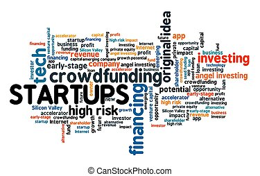Startups word cloud