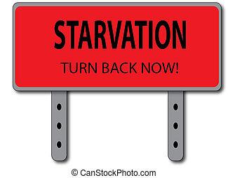 Starvation Sign Concept