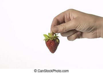 starwberry, ręka