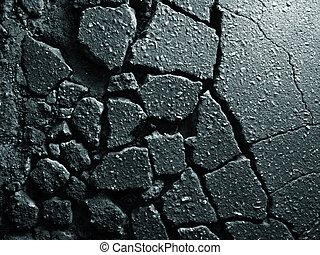 stary, asfalt, struktura