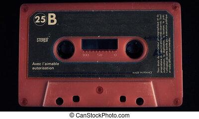 stary, audio cassette taśma