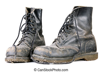 stary, brudny, obuwie