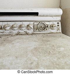 stary, brudny, stove.