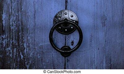 stary, drewniane drzwi, otwarcie, hd