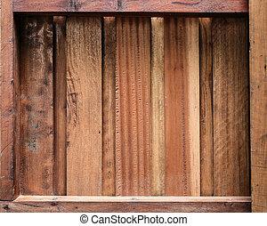 stary, drewno, pozbywa się, tło