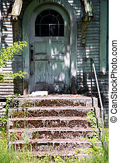 stary, house., opuszczony