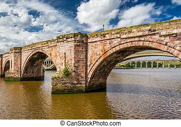 stary, kamień most, w, szkocja