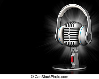 stary, mikrofon