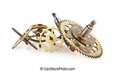 stary, przybory, zegar