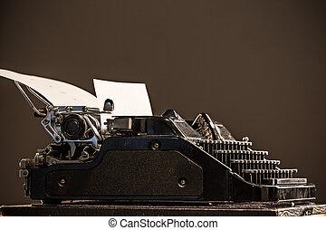 stary, rocznik wina, maszyna do pisania