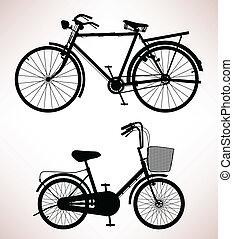stary rower, szczegół