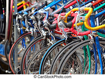 stary, rowery, biegi