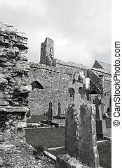 stary, starożytny, celtyckie krzyże