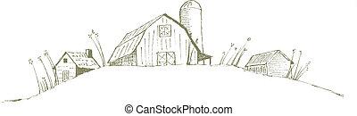 stary, stodoła