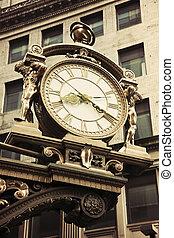stary, ulica, zegar, śródmieście, pittsburgh
