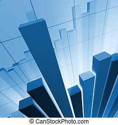 fine 3d financial graph stat business background
