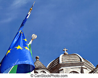State and Church - Concept photo, State vs Church, State...