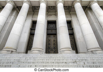 State Capital Historic Building Entrance - Washington State...