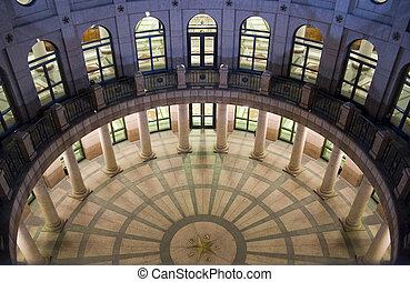 State Capitol Building at Night in Downtown Austin, Texas - ...