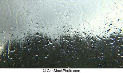 state., dehors, temps pluvieux, fenêtre., dépressif