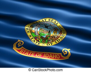 State flag: Idaho - Computer generated illustration of the...