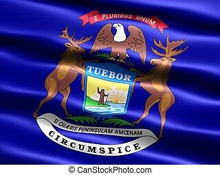 State flag: Michigan