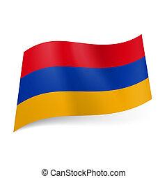 State flag of Armenia. - National flag of Armenia: red, blue...