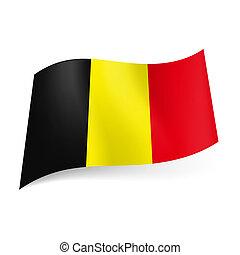 State flag of Belgium.