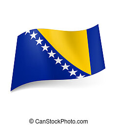 State flag of Bosnia and Herzegovina - National flag of...