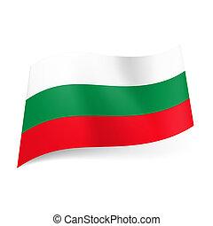 State flag of Bulgaria.