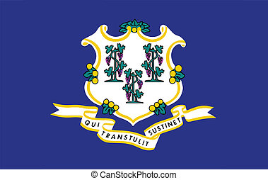 State Flag of Connecticut - The seal of the USA state of...
