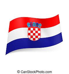 State flag of Croatia. - National flag of Croatia: red, ...