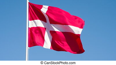 State Flag of Denmark - The Big State Flag is illuminated by...