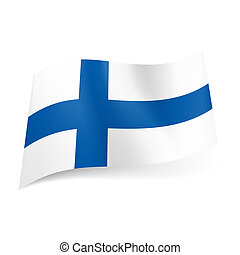 State flag of Finland. - National flag of Finland: blue...