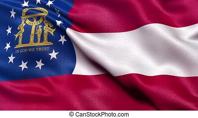 State flag of Georgia seamless loop