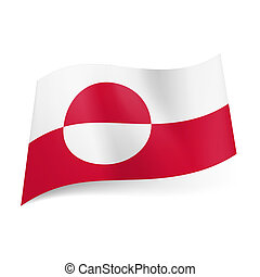 State flag of Greenland.