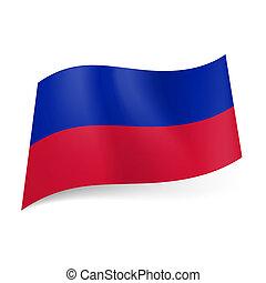 State flag of Haiti.