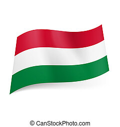State flag of Hungary.