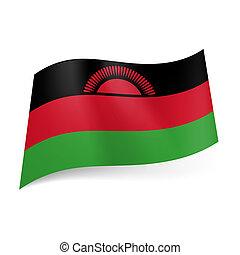 State flag of Malawi - National flag of Malawi: black, red...