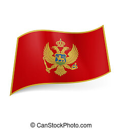 State flag of Montenegro.