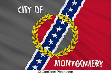 State Flag of Montgomery - the capital of Alabama, USA.