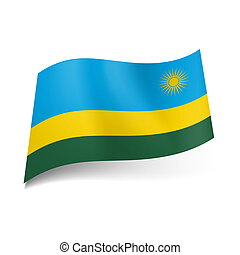 State flag of Rwanda.