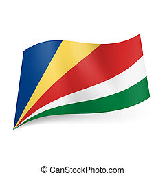 State flag of Seychelles. - National flag of Seychelles:...