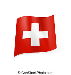 State flag of Switzerland. - National flag of Switzerland:...