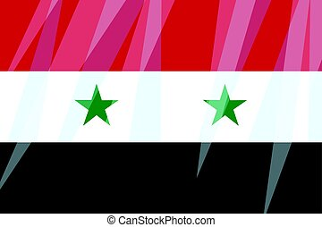 State Flag Of Syria National Flag Of Syria Red White And Black